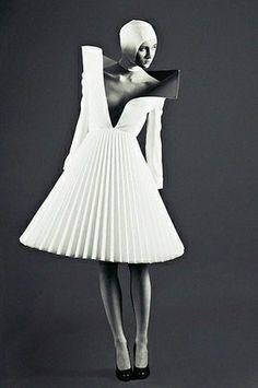 pleated and structured