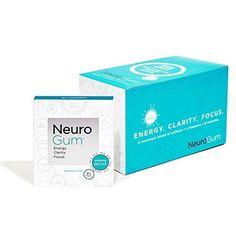 NeuroGum Nootropic Energy Gum, Enlighten Mint Flavor, 9 Pieces Per Pack, 6 ea ( Pack of 12)
