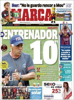 Los Titulares y Portadas de Noticias Destacadas Españolas del 4 de Junio de 2013 del Diario Deportivo Marca ¿Que le parecio esta Portada de este Diario Español?