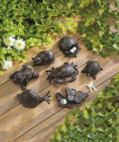 Outdoor Turtle Decor Key Hider Storage Rock Stone Garden Patio Porch Gift NEW