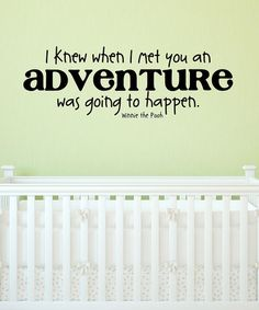 Take a look at this Black Pooh Adventure Wall Quote by Wallquotes.com by Belvedere Designs on #zulily today!