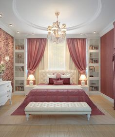 Browse images of classic Bedroom designs by design studio by Mariya Rubleva. Fin… Browse images of classic Bedroom designs by design studio by Mariya Rubleva. Find the best photos for ideas & inspiration to create your perfect home. Room Design Bedroom, Luxury Bedroom Design, Girl Bedroom Designs, Room Ideas Bedroom, Home Room Design, Home Decor Bedroom, Interior Design, Bed Room, Interior Ideas