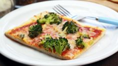 Broccoli Garlic Pizza