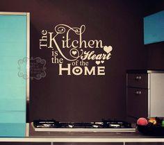 Kitchen Quotes Vinyl Wall Lettering Home Decor Quotes Words Art Wallpaper Kitchen Wall Quotes, Kitchen Vinyl, Kitchen Wall Art, Wall Sayings, Kitchen Sayings, Kitchen Decor, Quote Wall, Diy Wall, Wall Decor