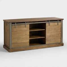 Wood Barn Door Storage Stand