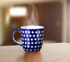 Classic mug. Traditional decoration number 42. Hand-painted using stamps.