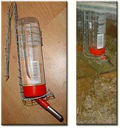 Oooh, we might have to try this for hanging our water bottles in the gerbil cage.