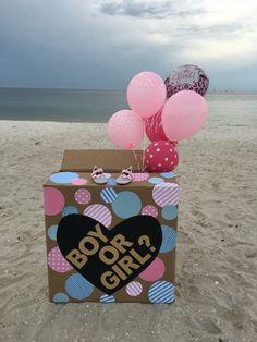 Beach gender reveal                                                       …