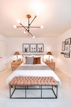 Room Design Bedroom, Room Ideas Bedroom, Home Decor Bedroom, Ikea Bedroom, Horse Bedroom Decor, Bench In Bedroom, Bright Bedroom Ideas, Cozy Master Bedroom Ideas, West Elm Bedroom