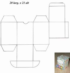 Embalagem para Guloseimas passo a passo Cajas Silhouette Cameo, Silhouette Curio, Cardboard Box Crafts, Paper Crafts, Paper Box Template, Free Stencils, Box Patterns, Paper Gift Box, Friend Birthday Gifts