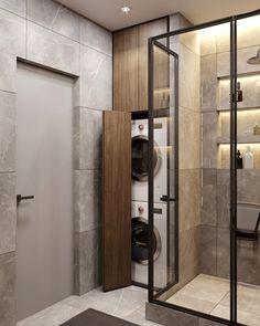 Laundry Room Bathroom, Laundry Room Remodel, Laundry Room Design, Home Room Design, Bathroom Layout, Home Interior Design, Small Bathroom, Bathroom Grey, Bathroom Ideas