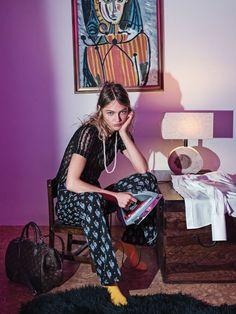 Sasha Pivovarova by Sebastian Kim for Vogue Korea May 2015 - Louis Vuitton Pre Fall 2015