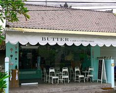 Butter Cake  Coffee Shop. The best cakes and coffer just a little walk from Club Residence Canggu.