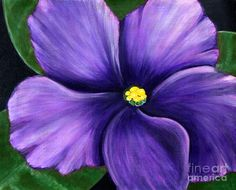 acrylic paintings of violets | Violet Painting by Barbara Griffin - Purple African Violet Fine Art ...