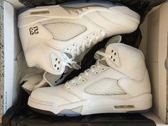 6b21c47771f7 2015 DS Nike Jordan V 5 White Metallic Silver Retro size 12 Deadstock 136027  130