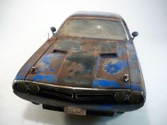 1971 Dodge Challenger R/T Dirty Barn Find Custom Weathered Greenlight 1/18  #Greenlight #1971DodgeChallengerRT
