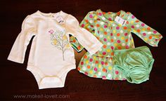 Altering Baby Clothes: Long Sleeves to Short {Plus Ruffles} | Make It and Love It