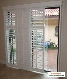 Modernize your sliding glass doors with sliding plantation shutters Ja die zocht ik!