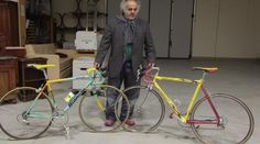Auction of Pantani bikes.