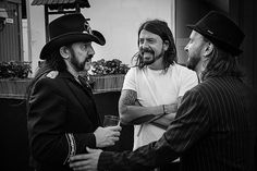 Lemmy, Dave Grohl and Tim Christensen Dave Grohl, Che Guevara, Black And White, Black N White, Black White