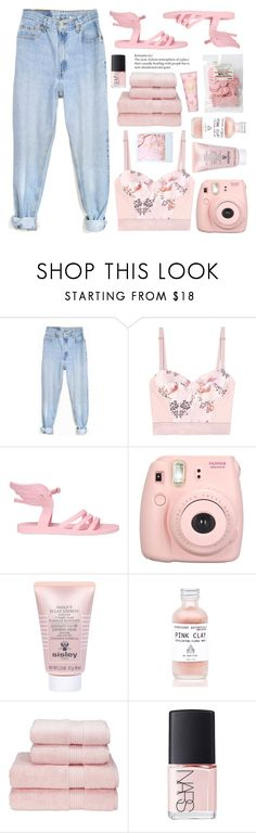 """BABY BABY PINK!!!"" by stellacolor21 ❤ liked on Polyvore featuring Levi's, STELLA McCARTNEY, Ancient Greek Sandals, Fujifilm, Sisley, NARS Cosmetics and Tory Burch"