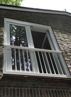 SK62® TREND, kunststof kozijn met geïntegreerd Frans balkonhek