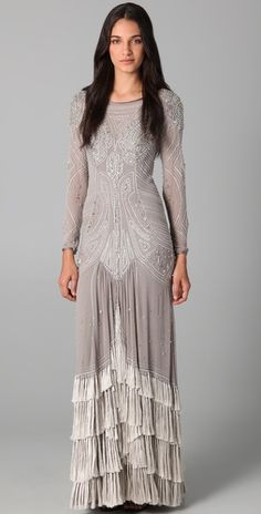 Temperley London: Silvia Long Dress. This is amazing.