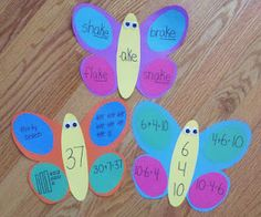 word family butterflies