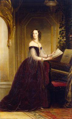 Portrait of Grand Princess Maria Nikolayevna (1819-1876) | Christina Robertson | Great Britain | 1841 | oil on canvas | The Hermitage | Inventory #: ГЭ-4784