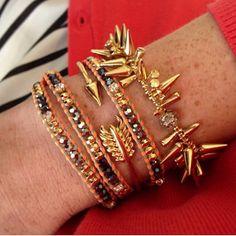 Gorgeous summer stack of Stella & Dot bracelets