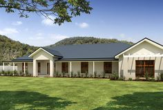 House plans australian acreage 55 ideas for 2020 House Cladding, Facade House, House Facades, Acerage Homes, Tree House Accommodation, Hampshire, Timber Window Frames, Rendered Houses, Sydney