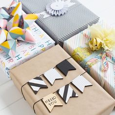 30 ideas DIY súper originales para envolver regalos - Vein Tutorial and Ideas Present Wrapping, Creative Gift Wrapping, Creative Gifts, Cute Gift Wrapping Ideas, Baby Gift Wrapping, Wrapping Papers, Gift Ideas, Cute Gifts, Diy Gifts