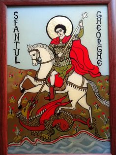 Icoane pe Sticla Monster, Saints, Glass, Angels, Art, St Francis, Saint George, Art Background, Drinkware