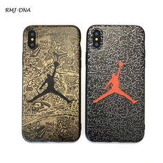 NBA Jordan Soft Silicone Back Cover case For iphone X 8 nba Celebrity Pattern Coke Phone Case for iphone 5 7 6 6 S 8 Plus cases Nba, Iphone 7, Iphone Cases, Modelos Iphone, Jordan 1 Retro High, Phone Covers, Jordans, Louis Vuitton, Pattern