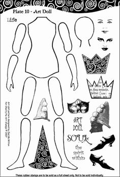 Plate 10 Art doll parts  13 x 18 cm