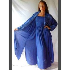 PRE-ORDER - Stunning Jacquard Trim Maxi Dress and Duster Jacket Set (Blue) $109.00 http://www.curvyclothing.com.au/index.php?route=product/product&path=95_97&product_id=9545