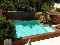 Pâtes de Verre Saona, mosaïque piscine vert pastel