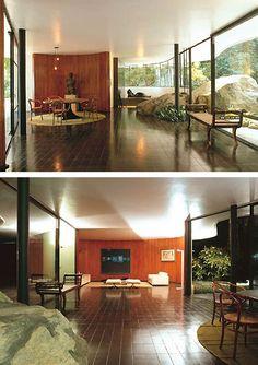 Oscar Niemeyer Family Home Casa Das Canoas House At