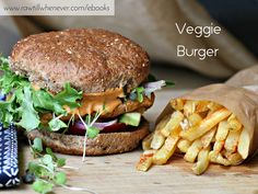 Veggie Burger recipe featured from my best selling vegan recipe book #FullyCooked.