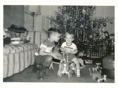 Vintage Holiday: prev pinner note: Christmas at Grandma Rices in Glen Rock, NJ 1952