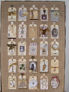 advent tags! Now to think up 25 things to place on the back...