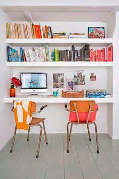 Happy office : Keltainen talo rannalla: Rustiikkia, väriä ja huonekaluja