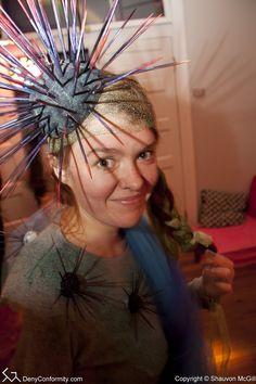 Sea urchin headpiece.