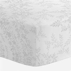 Gray Floral Damask Crib Sheet | Carousel Designs