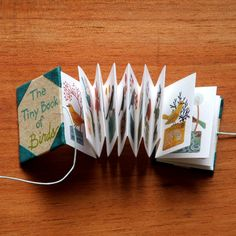 Easy DIY Mini Accordion Book Photo Tutorial « In the Studio with Ruth Bleakley Concertina Book, Creation Art, Handmade Books, Handmade Notebook, Book Projects, Kirigami, Altered Books, Book Crafts, Mini Books