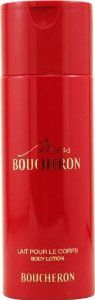 Miss Boucheron by Boucheron for Women. Body Milk 6.6-Ounces by Boucheron. $22.49. Packaging for this product may vary from that shown in the image above. Whenapplyingany fragrance please consider that there are several factors which can affect the natural smell of your skin and, in turn, the way a scent smells on you. For instance, your mood, stress level, age, body chemistry,diet, and current medications may all alter the scents you wear.Similarly, factor such as d...