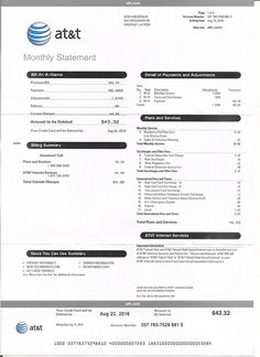 Utility, Bill, Statement, Monthly, Custom, Proof of