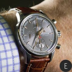 "Alpina ""Alpiner"" Automatic Chronograph (AL-750). The essence of Swissness. The elegance of Sports. Swiss Made since 1883."