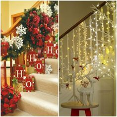 Christmas Decorate 41 Decorating Christmas - The Staircase! Christmas And New Year, Christmas Tree, Christmas Decorations, Holiday Decor, Happy Holidays, December, Gift Wrapping, Seasons, Simple