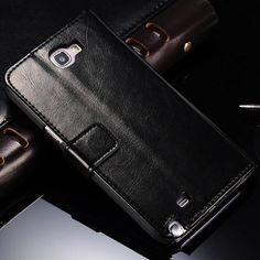 Leather Wallet Case For Samsung Galaxy Note 2 II N7100 Phone Bag Card Holder Stand Cover For Samsung Note 2 Case Luxury Vintage